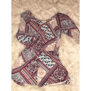 Multi Colored Romper